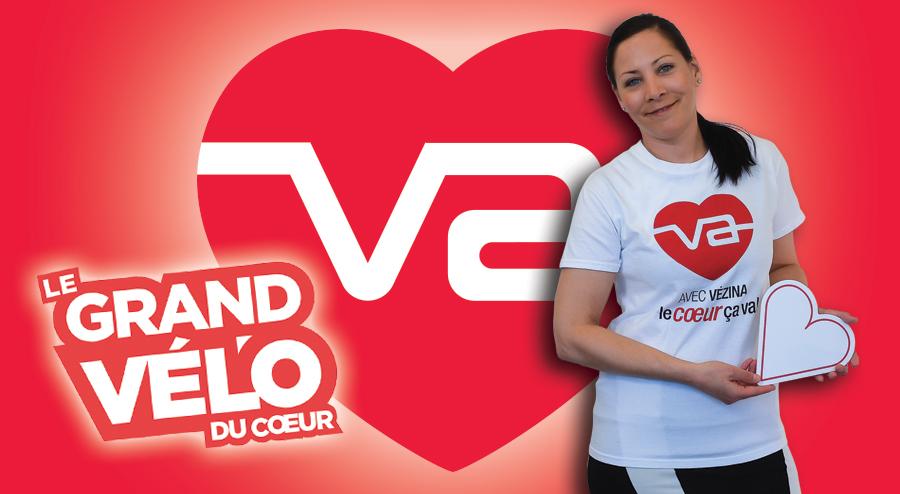 Assurances Groupe Vézina vélo du coeur 2019